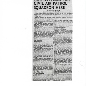 New Officers for Civil Air Patrol Squadron Here - 8 December 1942