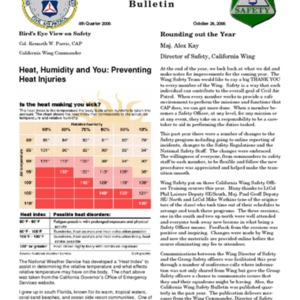 California Wing Quarterly Safety Bulletin - Fourth Quarter 2008