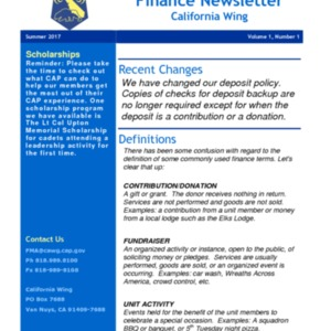 Finance Newsletter - Summer 2017