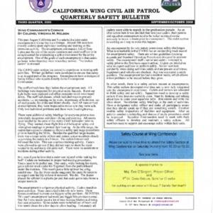 California Wing Safety Bulletin - Third Quarter 2005