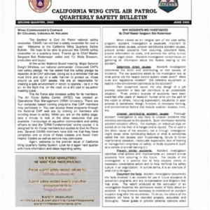 California Wing Quarterly Safety Bulletin - June 2005