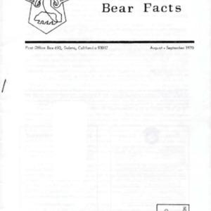 Bear Facts - August-September 1970