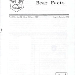 Bear Facts - August-September 1970